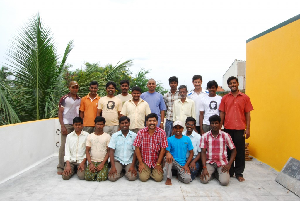 Mr 'A' and his screen printing and book binding team