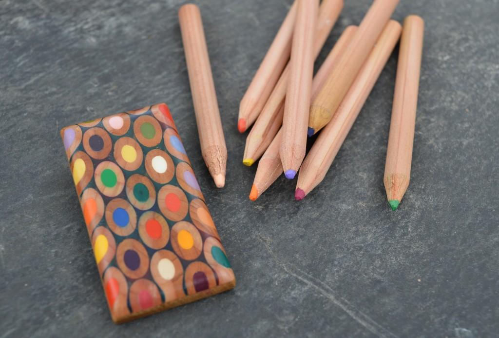pencil brooch multicoloured