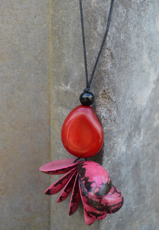 A pineapple Tagua pendant by Liz Cardenas