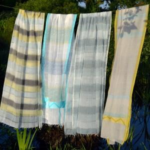 Fair-trade hand woven cotton scarves