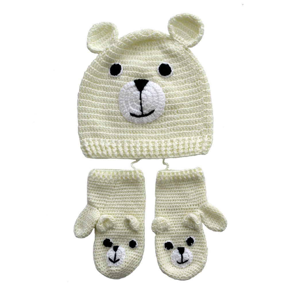 crochet bamboo hat & mittens