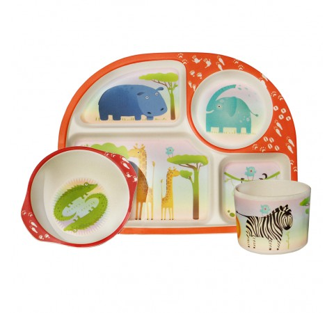 Children's Eco-Friendly Bamboo 3 Piece Dining Set