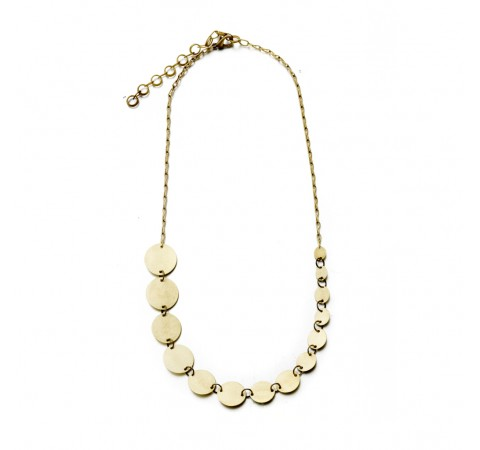 Fairtrade Brass Necklace - Inca Disc