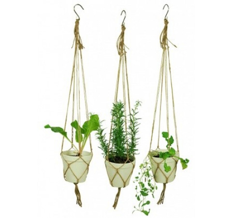 Eco-Friendly Hanging Spice Pots - Set of three