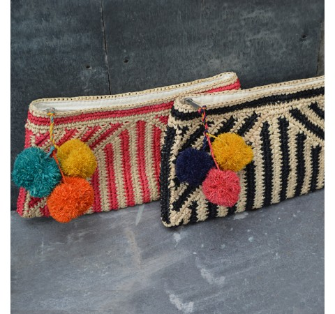 summer raffia clutch bag