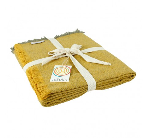 yellow wool blanket