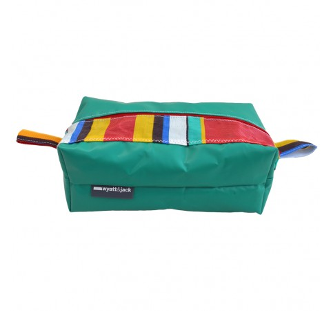 striped washbag