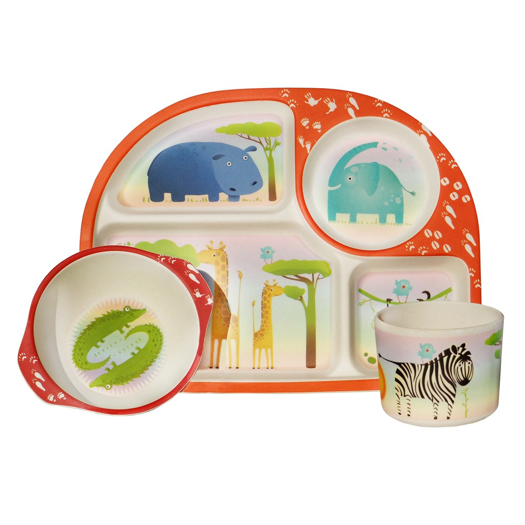 Bowls & Plates Bamboo Children's Set