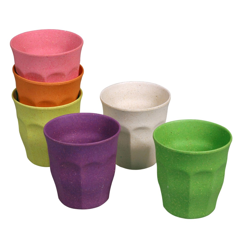 Eco Friendly Bamboo Amp Cornstarch Set Of Colourful Cups