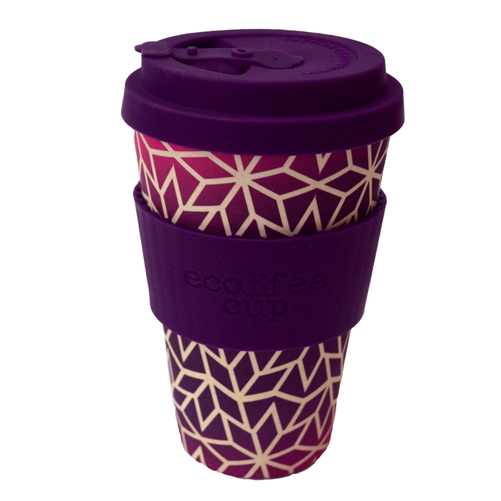 Eco Friendly Reusable Coffee Cup With Drip Proof Lid 400ml
