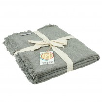 grey recycled wool blanket