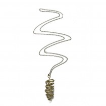 Fairtrade Brass Pendant - Floral Spiral