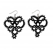 Handmade Heart-shaped Chandelier Earrings