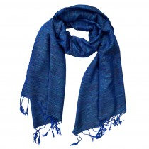 Long Handwoven Ethically Made Unisex Cotton and Linen Scarf