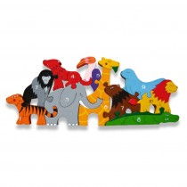 wooden jigsaw zoo