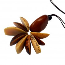 Hand Carved Pineapple organic Tagua Nut Pendant