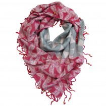 hand printed fair trade scarf