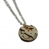 clock piece necklace