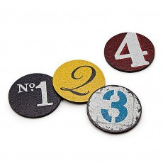Recycled Rubber Coaster Set - 1,2,3,4
