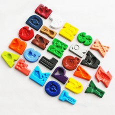 Non Toxic Wax Colouring Crayons- Alphabet