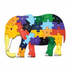 Fairtrade Handmade Wooden Alphabet Jigsaw-Elephant