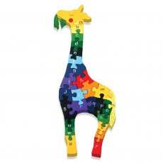 Fairtrade Handmade Wooden Alphabet Jigsaw-Giraffe