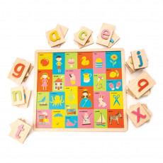 Ethically Made Wooden Alphabet Puzzle