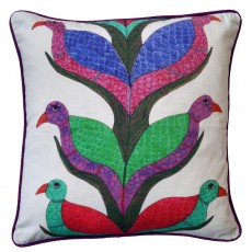 Square Cotton Canvas Digitally Printed Cushion - Asha