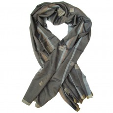 Luxury Silk &  Cashmere Hand Woven Long Scarf - Balance