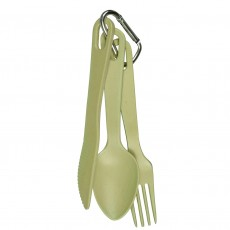 Eco-Friendly Bamboo & Cornstarch 3-piece Cutlery Set