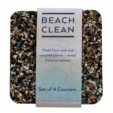 Eco-Friendly Beach Clean Coasters-set of 4