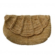 Fairtrade Scallop Raffia Clutch Bag