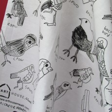 Cotton Printed Tea Towel-Birds