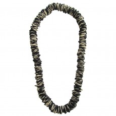 Long Natural Latex Rubber Necklace-Black and White