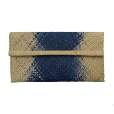 Fairtrade Ombre Raffia Clutch Bag