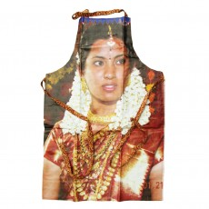 Fairtrade Upcycled Bollywood Billboard Apron-Bride