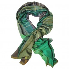 Luxury Silk & Cashmere Hand Woven Long Scarf - Carousel