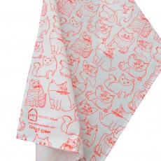 Cotton Printed Tea Towel-Cats