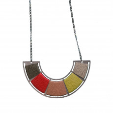 Reclaimed Stainless Steel Colour Wheel Necklace