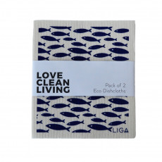 Love Clean Living Eco Dishcloths-pack of 2