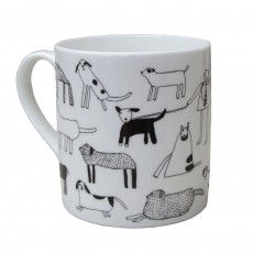 Fine Bone China Mug-Dog