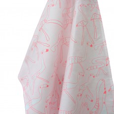 Cotton Printed Tea Towel-Flamingos