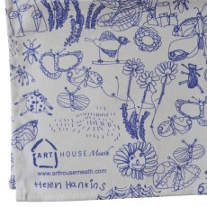 Cotton Printed Tea Towel-Garden