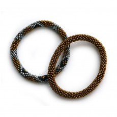 Fair Trade Handmade Glass Bead Roll-On Bracelets