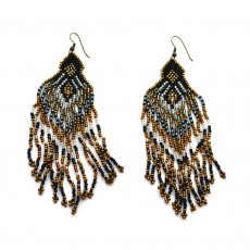 Ethically Made Glass Bead Chandelier Earrings