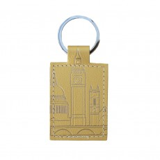 Recycled Leather Key Ring- London Skyline