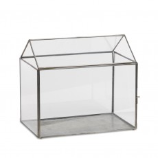 Fairtrade Recycled Glass Greenhouse Terrarium