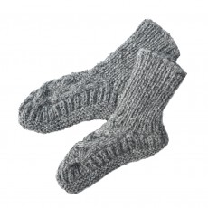 Fairtrade Handknitted Wool Slipper Socks