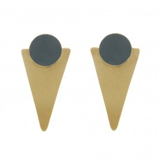 Fair Trade Brass Geometric Earrings