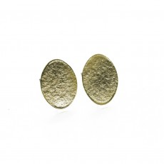 Fairtrade Brass Stud Earrings - Inca Disc